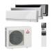 Комплект мульти-сплит системы Mitsubishi Electric MXZ-3E54 VA / MSZ-EF22 VE (B/W/S)-3шт