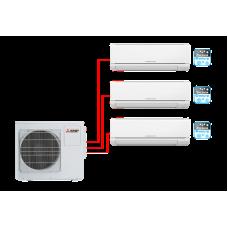 Комплект мульти-сплит системы Mitsubishi Electric MSZ-HJ25VA ER1*3 + MXZ-3HJ50VA ER1